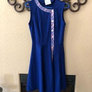 Blue ModCloth secretary dress